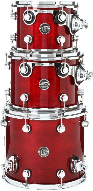 DW Performance Series 3-piece Tom Pack - Cherry Stain Lacuqer image 1