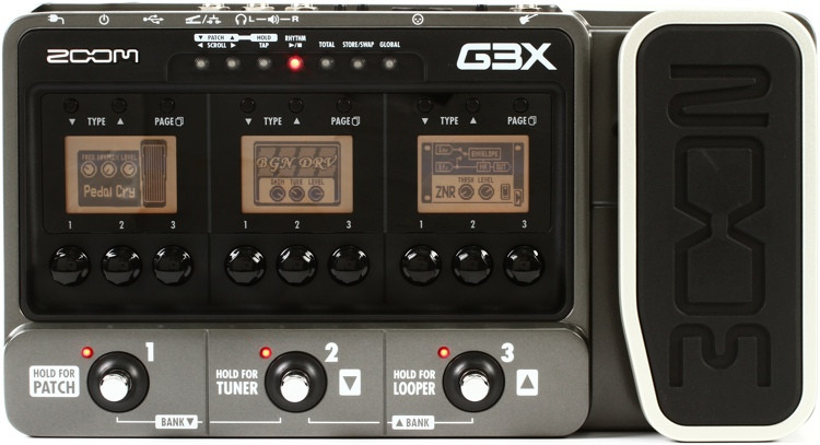 zoom g3x multi effects pedal with usb and expression pedal sweetwater. Black Bedroom Furniture Sets. Home Design Ideas