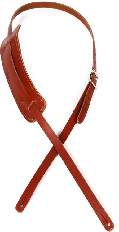 Gretsch Vintage Leather Guitar Strap - Walnut image 1