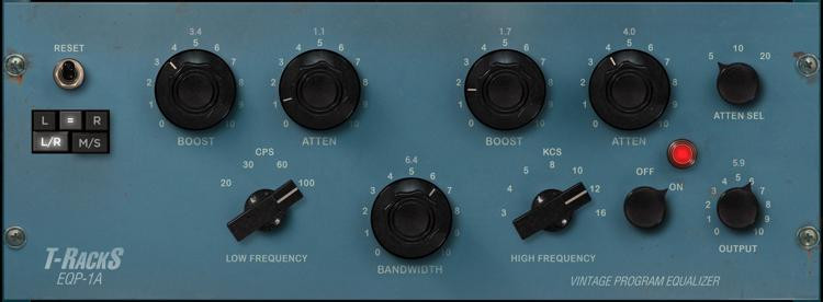 IK Multimedia T-RackS Vintage Tube Program Equalizer Plug-in image 1