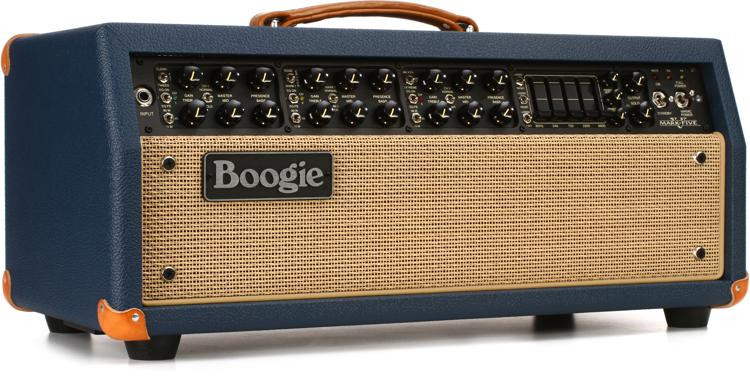 Mesa/Boogie Mark V 90-watt Tube Head - Blue Bronco with Tan Grille image 1