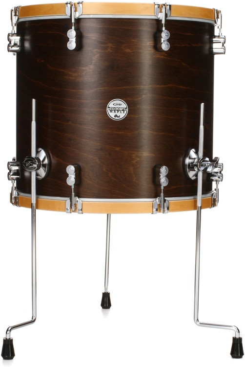 pdp concept maple classic 16 x18 floor tom walnut with natural hoops sweetwater. Black Bedroom Furniture Sets. Home Design Ideas