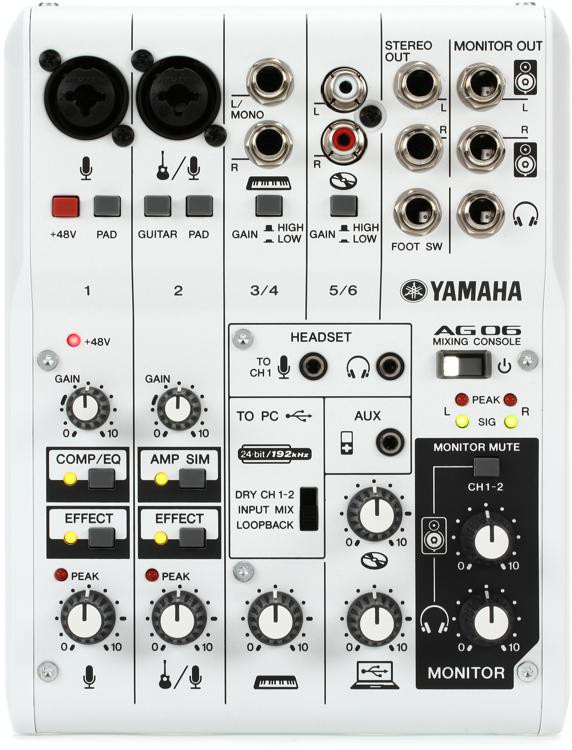 AG06 6-channel Mixer and USB Audio Interface
