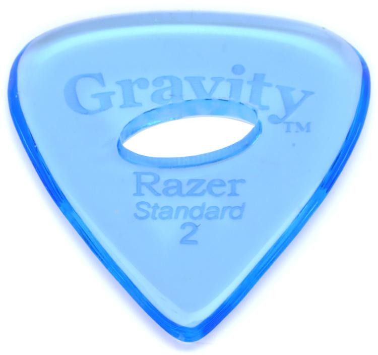 Gravity Picks Razer - Standard Size, 2mm, w/Elipse-hole Grip image 1