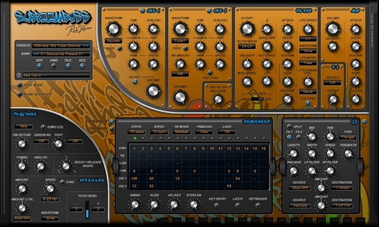 Rob Papen SubBoomBass Virtual Bass Line Synthesizer image 1