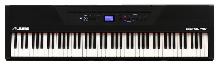 Alesis Recital Pro 88-key Hammer-action Digital Piano ...