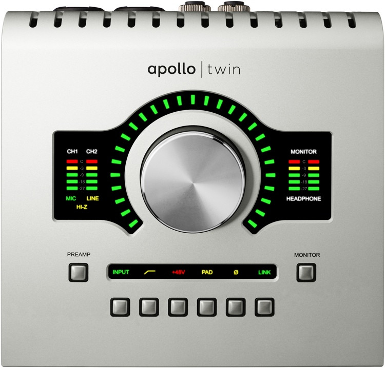 Universal Audio Apollo Twin SOLO 2x6 Thunderbolt Audio Interface with UAD DSP image 1