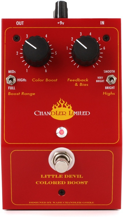 Chandler Limited Little Devil Colored Boost Distortion Pedal image 1