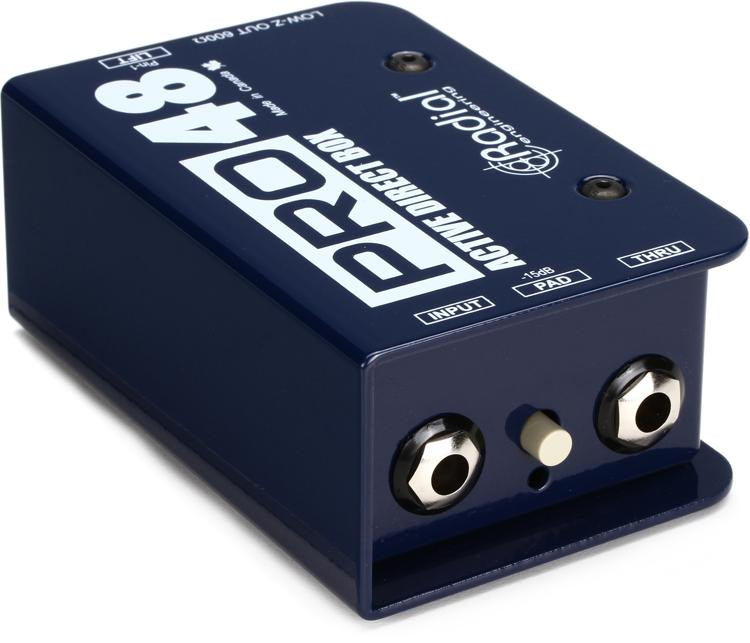 Radial Pro48 1-channel Active 48v Direct Box image 1