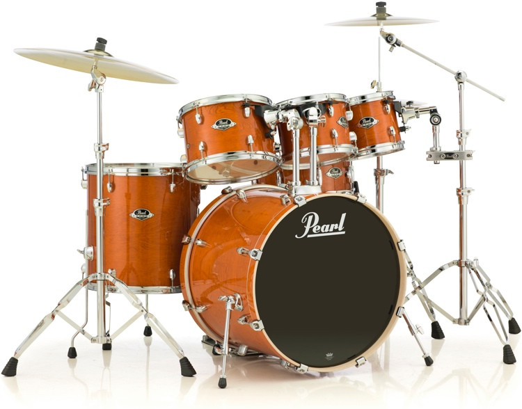 pearl export exl 6 piece drum set with hardware honey amber sweetwater. Black Bedroom Furniture Sets. Home Design Ideas