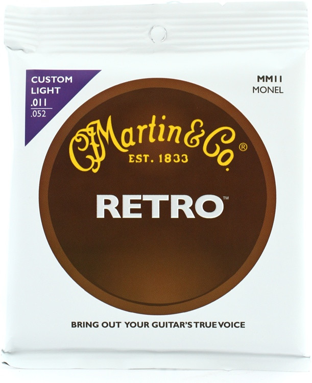 Martin MM11 Retro Acoustic Guitar Strings - 0.011-0.052 image 1