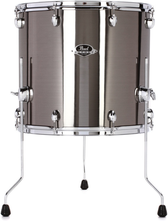 pearl export series floor tom 18 x 16 smokey chrome sweetwater. Black Bedroom Furniture Sets. Home Design Ideas