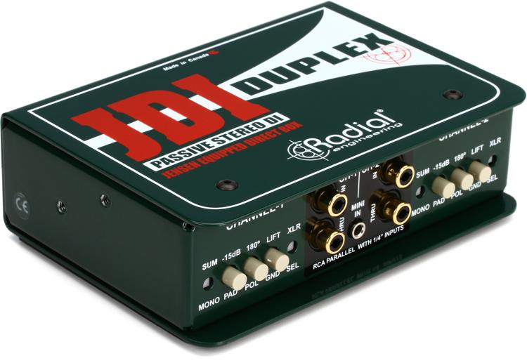 Radial JDI Duplex - Jensen Equipped 2-channel Passive Instrument Direct Box image 1