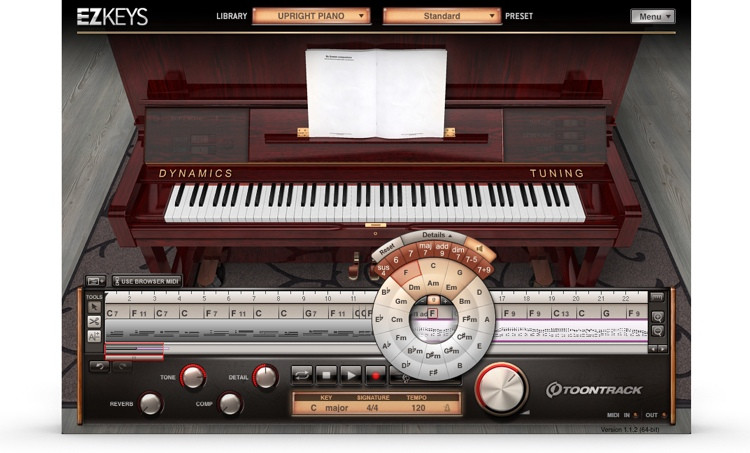 Toontrack EZkeys Upright Piano Songwriting Software and Virtual Piano image 1
