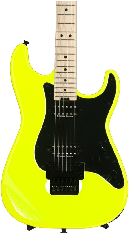 Charvel Pro-Mod So-Cal Style 1 HH Floyd Rose - Neon Yellow image 1