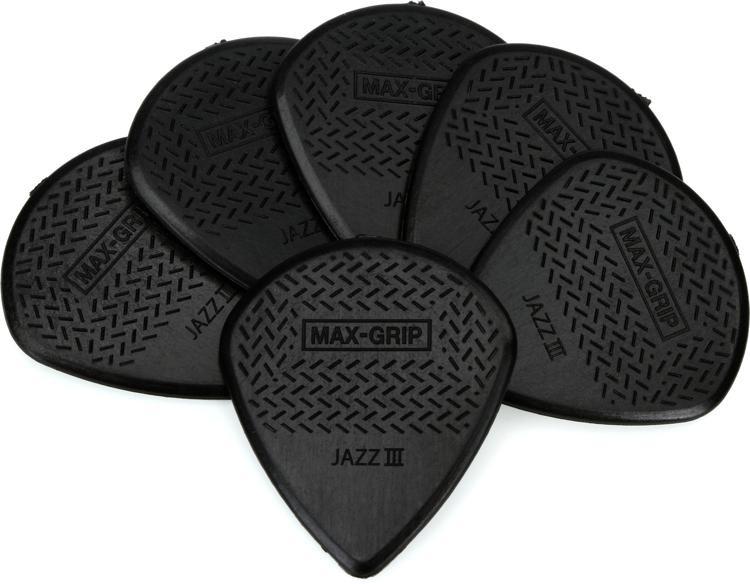 Dunlop 471P3S Nylon Max-Grip Jazz III Black