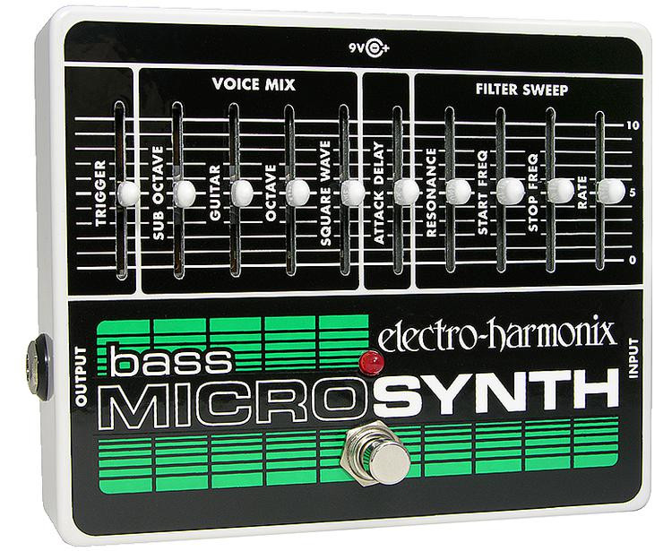 electro harmonix bass micro synth pedal sweetwater. Black Bedroom Furniture Sets. Home Design Ideas