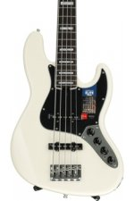 Fender American Elite Jazz Bass V - Olympic White, Rosewood Fingerboard