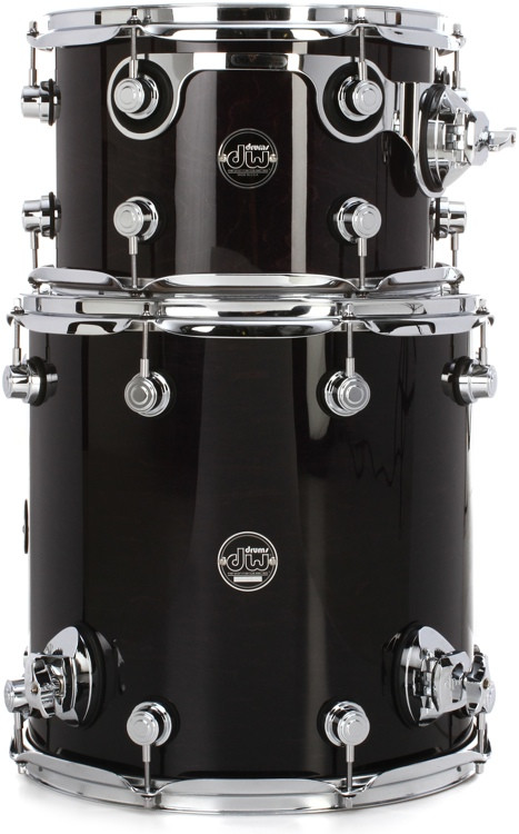 DW Performance Series 2-piece Bop Tom Pack - Ebony Stain Lacquer image 1