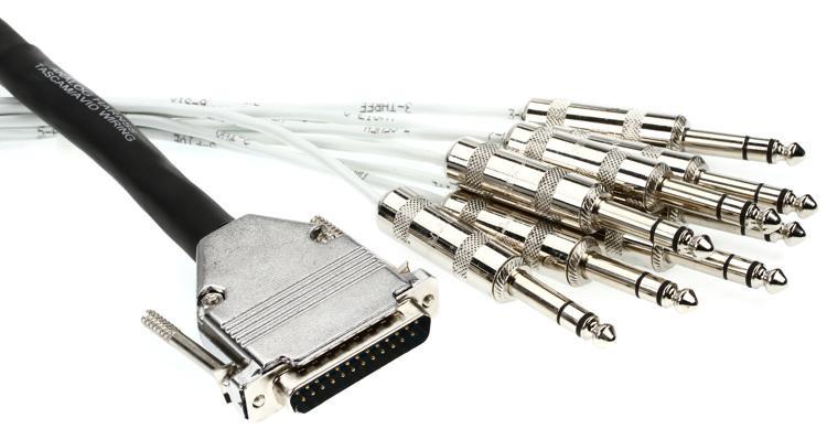 Pro Co DA88BQ-3 - Analog DB25/TRS Patch Snake, 3\' image 1
