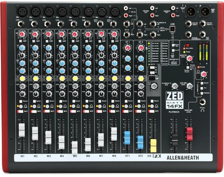 ZED60-14FX Mixer with USB and Effects