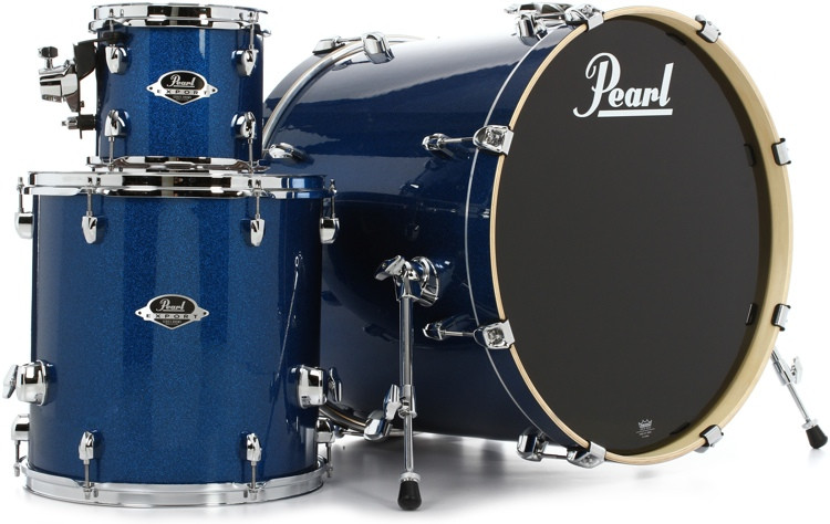 Pearl Export EXX 3-piece Add-on Kit with Hardware - Electric Blue Sparkle image 1
