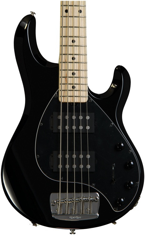 ernie ball music man stingray 5 hh black sweetwater. Black Bedroom Furniture Sets. Home Design Ideas