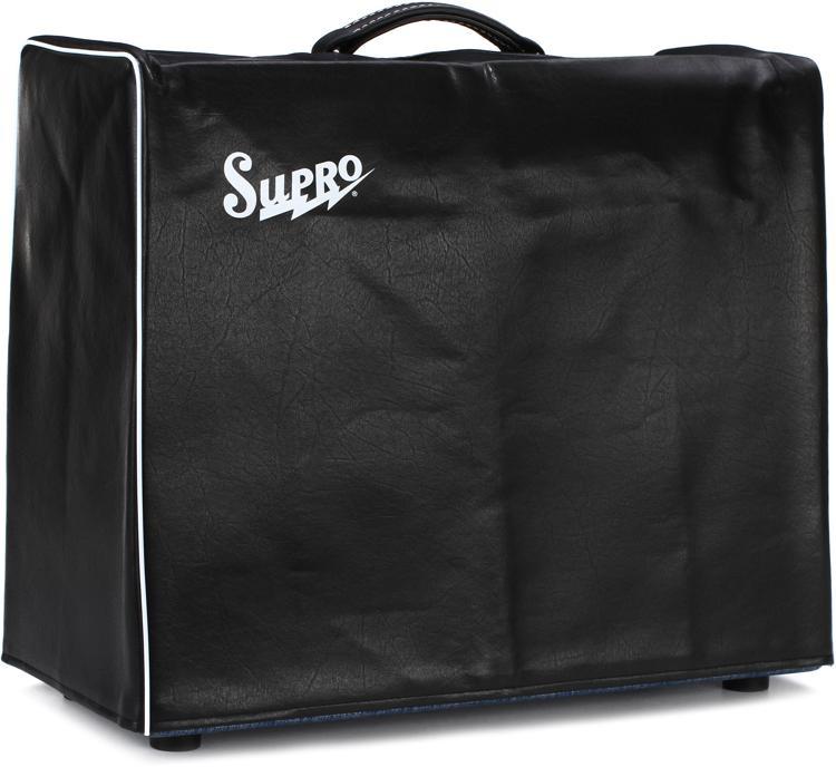 Supro Black Vinyl Amp Cover w/Logo - 1x15
