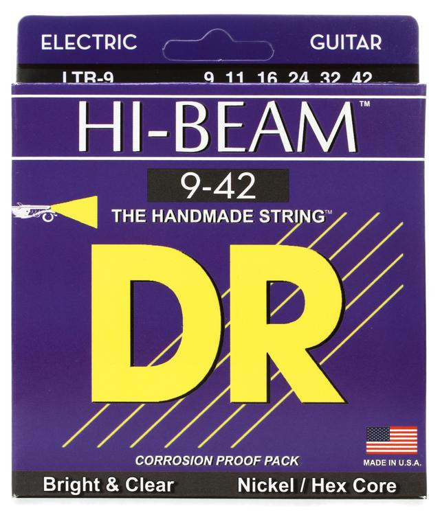 DR Strings LTR-9 Hi-Beam Nickel Plated Lite Electric Strings image 1