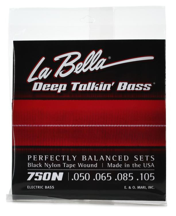 la bella 750n black nylon tapewound bass strings light sweetwater. Black Bedroom Furniture Sets. Home Design Ideas