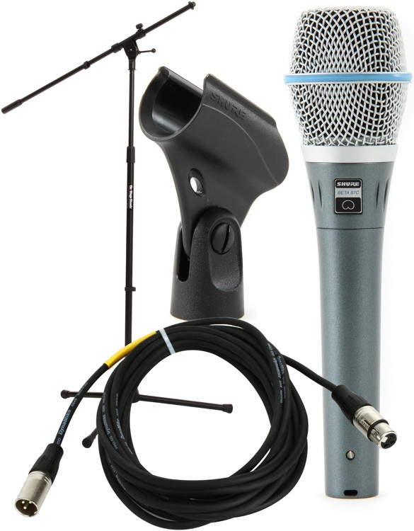 Shure Beta87C Handheld Microphone with Stand and Cable image 1