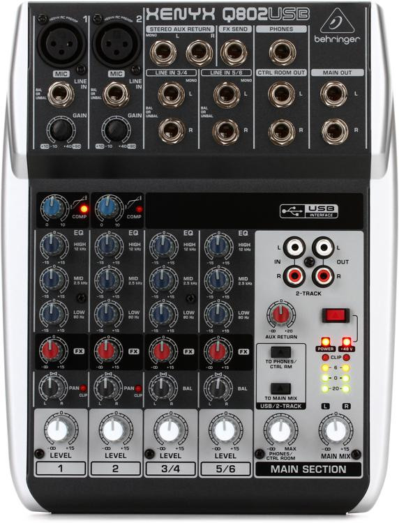 Behringer Xenyx Q802USB Mixer and USB Audio Interface image 1