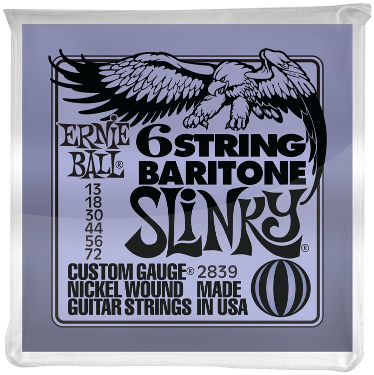Ernie Ball 2839 Slinky Nickel Wound 6-String Baritone Strings image 1