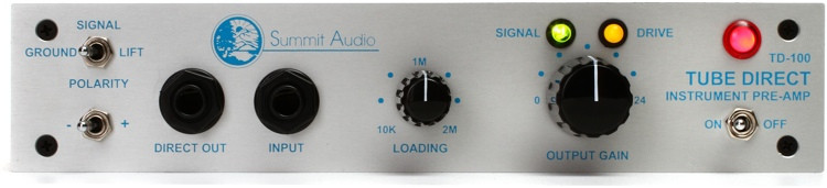 Summit Audio TD-100 1-channel Active Tube Instrument Direct Box image 1