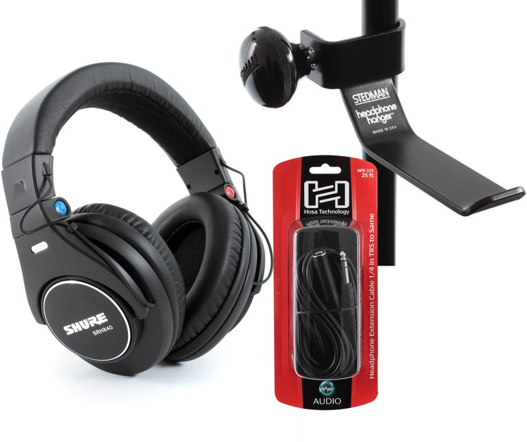 Shure SRH840 Headphone, Hanger, Cable Bundle image 1