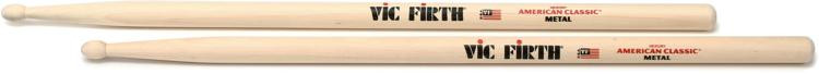 Vic Firth American Classic Drum Sticks - Metal - Wood Tip image 1