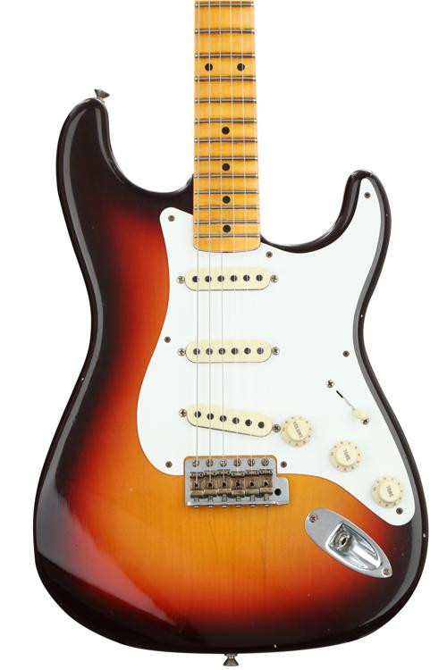 Fender Custom Shop 1958 Journeyman Relic Stratocaster - Chocolate 3-tone Sunburst with Maple Fingerboard image 1
