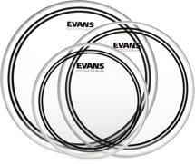 "Evans EC2 Clear Tom Pack - 10"", 12"", and 14"" Heads"