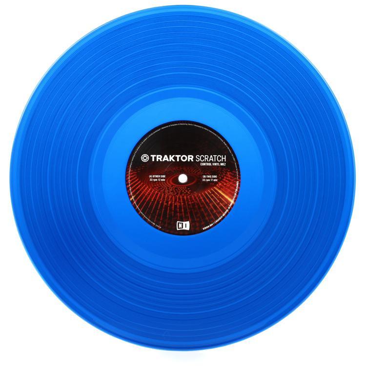 Native Instruments Traktor Scratch Control Vinyl MK2 - Blue (Single Vinyl) image 1