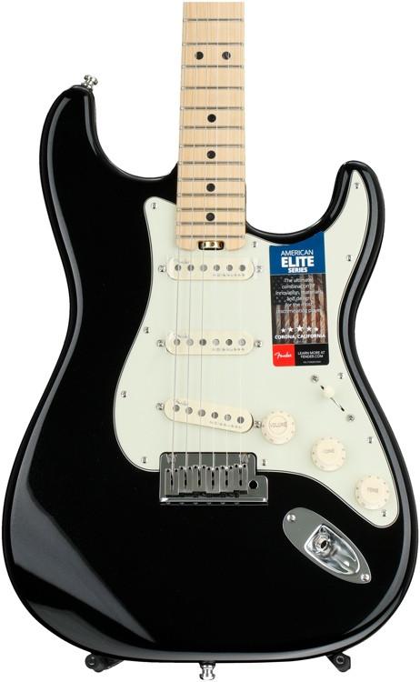 Fender American Elite Stratocaster - Mystic Black with Maple Fingerboard image 1