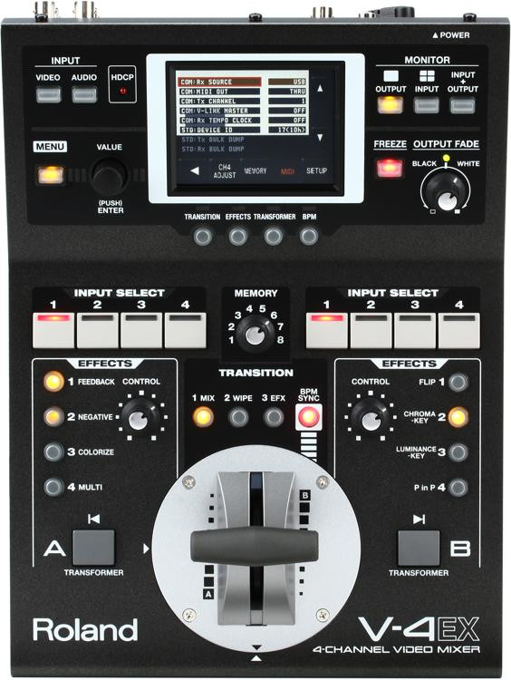 Roland V-4EX 4-Ch Digital Video Mixer w/ Effects image 1