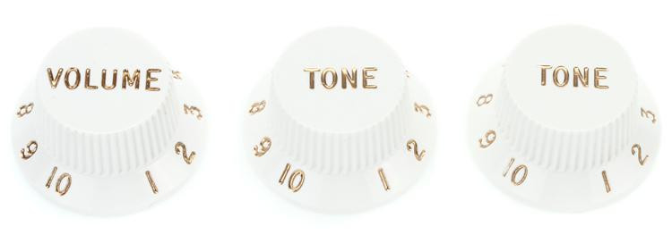 Fender Stratocaster Replacement Knobs - White image 1