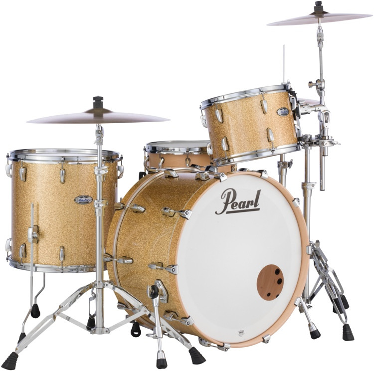 Pearl Masters Complete 3-piece Shell Pack - Bombay Gold Sparkle image 1