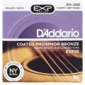 D'Addario EXP26 Coated Phosphor Bronze Custom Light Acoustic Strings
