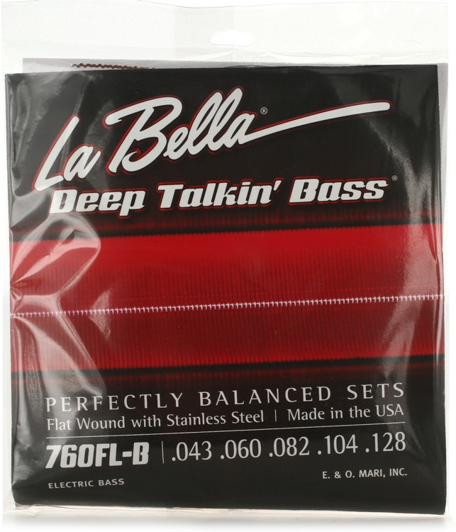 la bella 760fl b deep talkin 39 bass flatwound bass strings light 5 string sweetwater. Black Bedroom Furniture Sets. Home Design Ideas