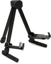 K&M 17550 Memphis Travel Guitar Stand (Acoustic & Electric) - Black