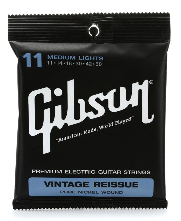 Gibson Accessories VR11 Vintage Reissue Electric Strings - .011-.050 - Medium Light image 1