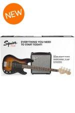 Squier PJ Bass Pack - Brown Sunburst
