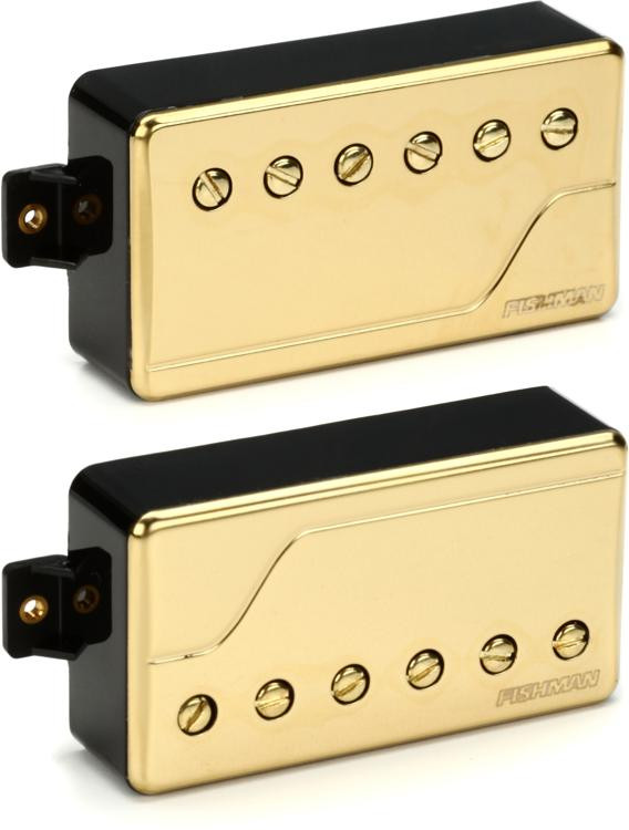 Fishman Fluence Classic Humbucker Pickup Set with Gold Cover image 1