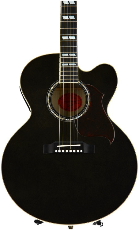 gibson acoustic j 185 ec hi performance trans ebony sweetwater. Black Bedroom Furniture Sets. Home Design Ideas